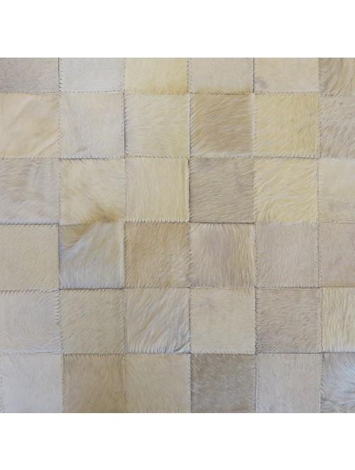Tapete de Couro Off White 1,50 x 2,00m