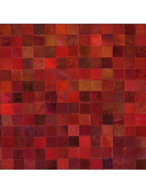 Tapete de Couro Tons de Vermelho 2,00 x 2,50m