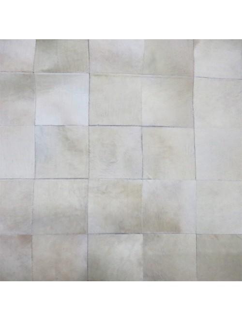 Tapete de Couro Off White 1,50 x 2,10m