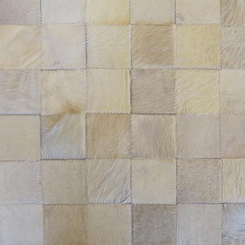 Tapete de Couro Off White 1,00 x 1,50m