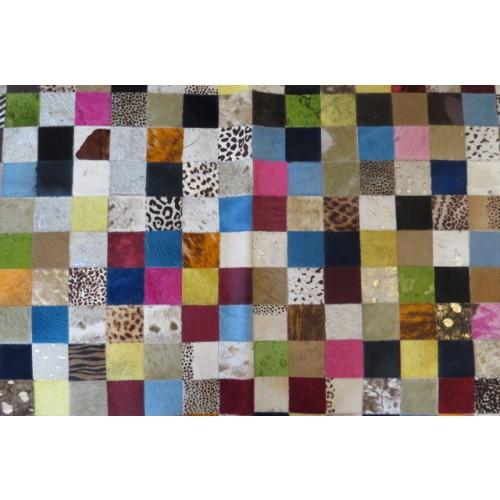 Tapete de Couro Mix Colorido 2,00 x 2,50m