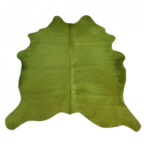 Tapete de Pele Natural Tingido Verde Limão