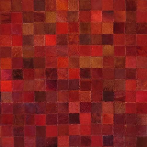 Tapete de Couro Tons de Vermelho 2,50 x 3,00m
