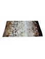 Tapete de Couro Degradê Marrom e Branco 1,50 x 2,00m