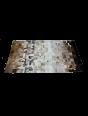 Tapete de Couro Degradê Marrom e Branco 2,00 x 2,50m