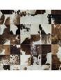 Tapete de Couro Marrom e Branco Malhado 1,00 x 1,50m