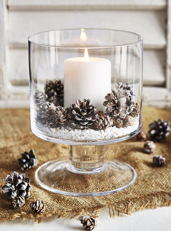 Velas decoradas para o natal