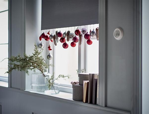 Decorações de natal na janela